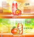Digital vector red and orange shower gel