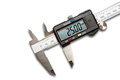 Digital vernier calipers on white background with clipping path Stock Photo