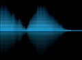 Digital volume equalizer this is made in illustrator with high resolution blue lines in black background Stock Images