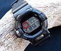 Digital watch cronograph over black background Royalty Free Stock Photos