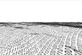 Digitally generated binary code landscape on white background Stock Photos