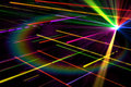 Digitally generated disco laser background in cool colours Royalty Free Stock Images