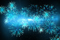 Digitally generated firework design in blue Royalty Free Stock Photos