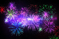 Digitally generated firework design in different colours Royalty Free Stock Image