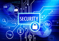 Digitally generated image with security concept Stock Photography