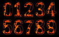 Digits on fire. Stock Photography