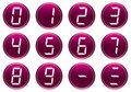 Digits icons set. Royalty Free Stock Photo
