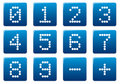 Digits square icons set. Royalty Free Stock Photo