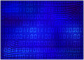 0,1 digits vector wallpaper. blue Binary code background. Digital matrix abstract technology illustration. Royalty Free Stock Photo