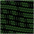 0,1 digits vector wallpaper. Green Binary code on black background. Digital matrix abstract technology illustration. Royalty Free Stock Photo