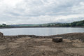 Digley reservoir reserves are rather low during the warm summer months Stock Image