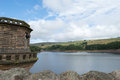 Digley reservoir view across near holmfirth west yorkshire from behind the tower Stock Photos