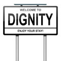 Dignity concept. Stock Image