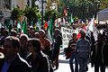 The dignity march a protest these is urban life demonstration place sevilla spain date event urban life Royalty Free Stock Photography