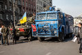 Dignity revolution euromaidan kiev ukraine kyiv march military machinery on hreshchatik str Royalty Free Stock Photography