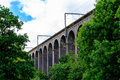 Digswell viaduct in the uk welwyn seen from ground it's located between welwyn garden city and Royalty Free Stock Image