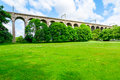 Digswell viaduct in the uk welwyn seen from ground it's located between welwyn garden city and Stock Images