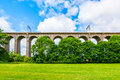 Digswell viaduct in the uk welwyn seen from ground it's located between welwyn garden city and Stock Photo