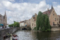 Dijver canal in bruges belgium the with its historical buildings Royalty Free Stock Photo