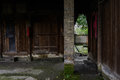 Dilapidated ancient timber structural dwelling building,Chengdu, Royalty Free Stock Photo
