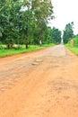 Dilapidated asphalt road Stock Image