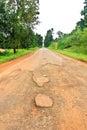 Dilapidated asphalt road Stock Images