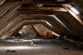 Dilapidated attic Royalty Free Stock Photo
