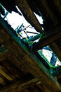 Dilapidated barn interior Royalty Free Stock Photography