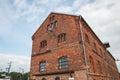 Dilapidated brick buildings on the streets of Liepaja