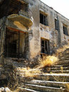 Dilapidated house in greece Royalty Free Stock Photo
