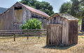Dilapidated outhouse in the american west Royalty Free Stock Images