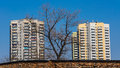 Dilapidated and renovated residential blocks in katowice silesia region poland Royalty Free Stock Images