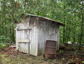 Dilapidated wooden shed Royalty Free Stock Photo