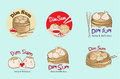 Dim sum design logo cute cartoon