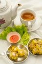 Dim sum with tea Royalty Free Stock Photos