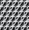 Dimensional cubes background seamless with contrast Stock Images