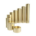 Dimensional growing golden bar graph Royalty Free Stock Photo