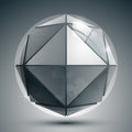 Dimensional sphere with flashes futuristic sparkle dotted round structure Royalty Free Stock Photo