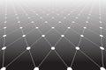 Diminishing perspective. Diamonds pattern. Royalty Free Stock Photo