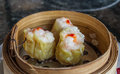 Dimsum in the steam basket Royalty Free Stock Photo