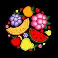 Din frukt för bakgrundsdesignenergi Royaltyfri Fotografi
