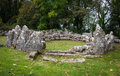 Din lligwy circle hut anglesey uk or llugwy is an ancient village on north wales Stock Photos