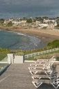 Dinard brittany panorama famous holiday destination in Royalty Free Stock Image