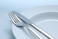 Diner cutlery background Stock Photos