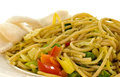 Diner dish with noodles Stock Images