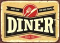 Diner retro sign Royalty Free Stock Photo