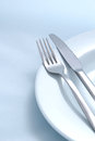 Diner utensils Royalty Free Stock Photos