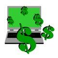 Dinero en línea Imagenes de archivo