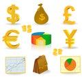 Dinero y dinero en circulación Fotografía de archivo libre de regalías