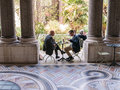 Diners in the courtyard of the Petit Palais, Paris Royalty Free Stock Photo